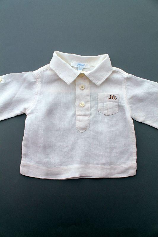 ae04bfc92bdc2 chemise cérémonie ou baptême blanche lin bébé garçon 6 mois Jacadi ...