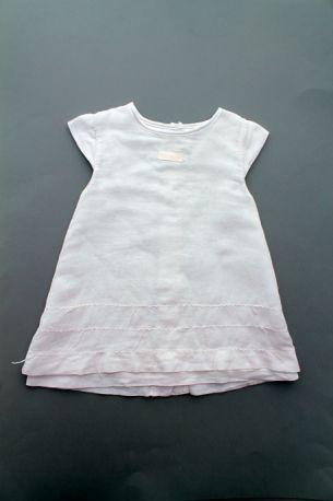 266c16c1358f7 Robe blanche baptême été légère bébé fille 6 mois Clayeux
