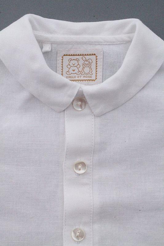 ensemble c r monie chemise blanche gilet bleu marine b b. Black Bedroom Furniture Sets. Home Design Ideas