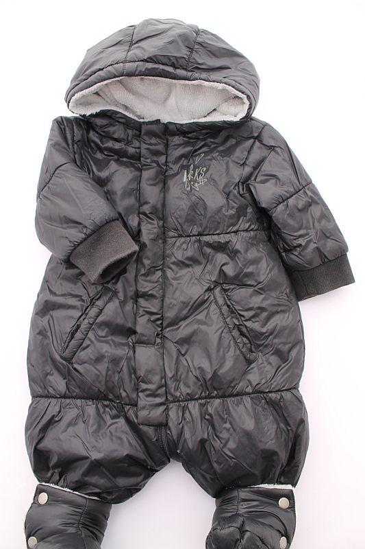 4e4f53f42e8b8 Combipilote noir doublé polaire chaud hiver bébé garçon 6 mois IKKS ...