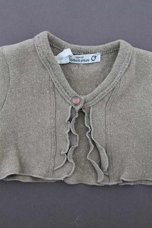 Cardigan kaki neuf dégriffé doux chaud hiver bébé fille 1 mois GYMP ... df510cdda31