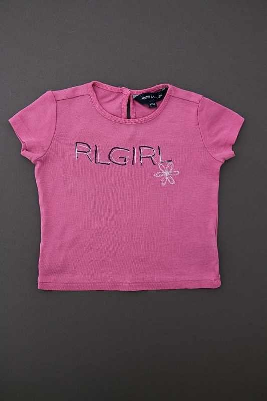 tee shirt manches courtes rose l ger t b b fille 18 mois ralph lauren. Black Bedroom Furniture Sets. Home Design Ideas