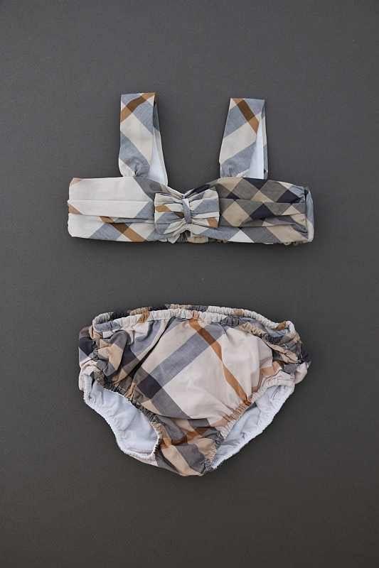 Nouvelle liste meilleur endroit esthétique de luxe Maillot de bain motif check 2 pièces bébé fille 6 mois Burberry