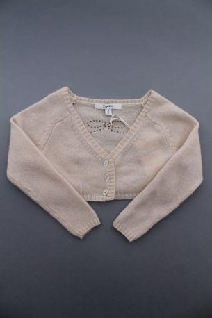 bfb49b28328c9 Cardigan beige en cachemire pour danse bébé fille 24 mois Repetto