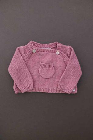 Brassière tricot rose naissance valise maternité bébé fille Natalys 51709a726e2