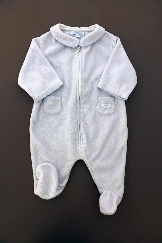 12fa0f1de0dc6 Surpyjama mixte en polaire bleu layette chaud hiver bébé 3 mois Jacadi