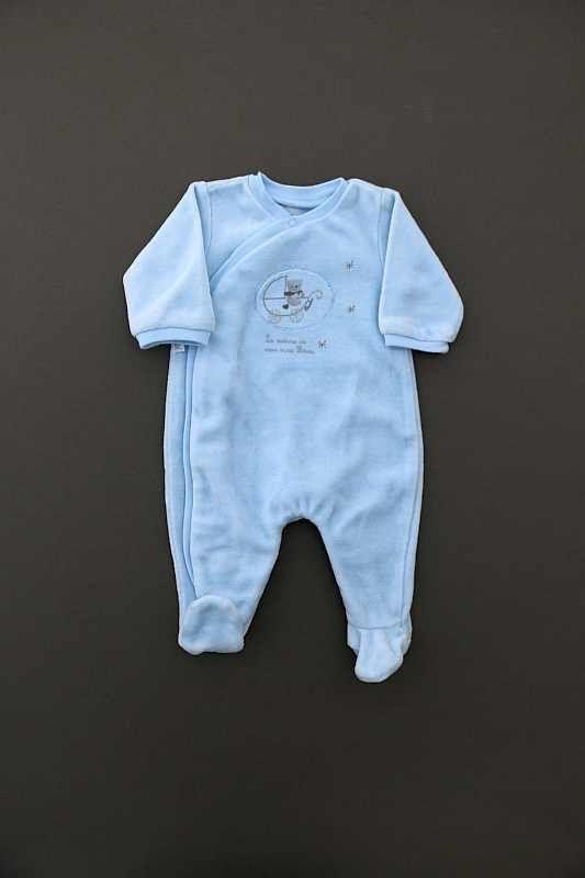 426192c085221 Pyjama velours bleu ciel Absorba. Absorba. Pyjama en velours bleu layette