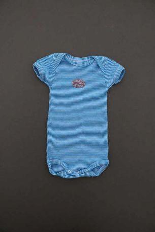 Body simple manches courtes milleraies bleu turquoise bébé mixte 3 ... 4b6ded099d1