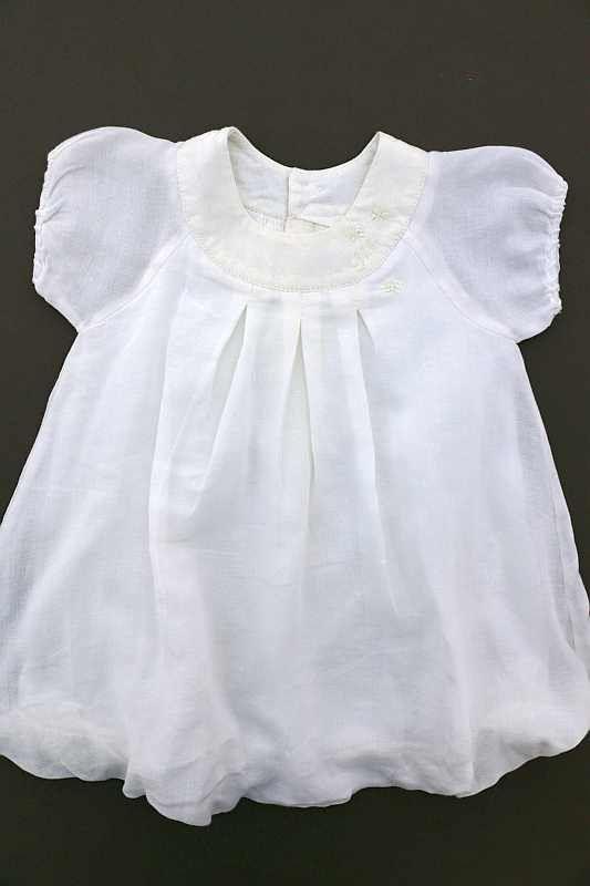 Magnifique Robe De Bapteme Blanche Legere Ete Occasion Parfait Etat Comme Neuf Bebe Fille 12 Mois Ikks