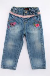 Pantalon en denim brodé   Catimini