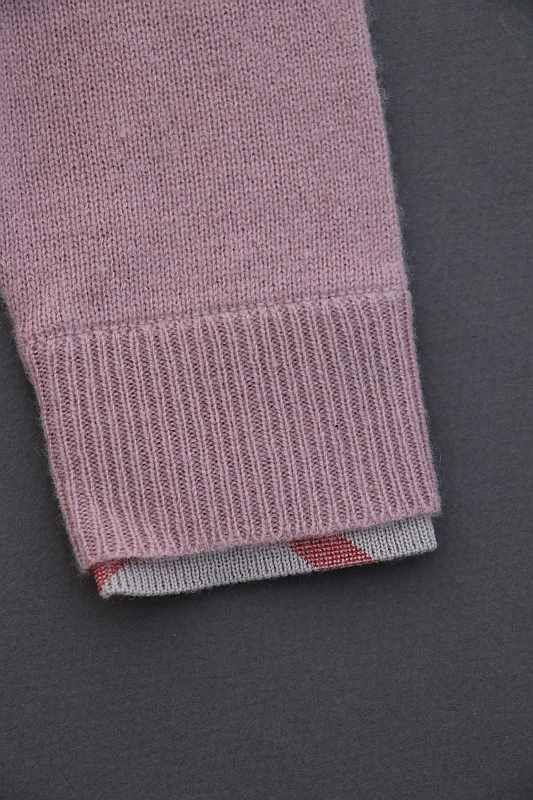 143d5a1e70cd9 Cadeau naissance robe tricot pur cachemire vieux rose douce chaude ...