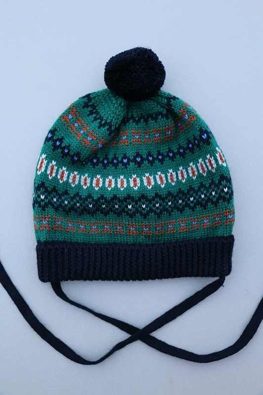 prix raisonnable une autre chance procédés de teinture minutieux Bonnet et moufles tricot laine acrylique bleu marine vert ...