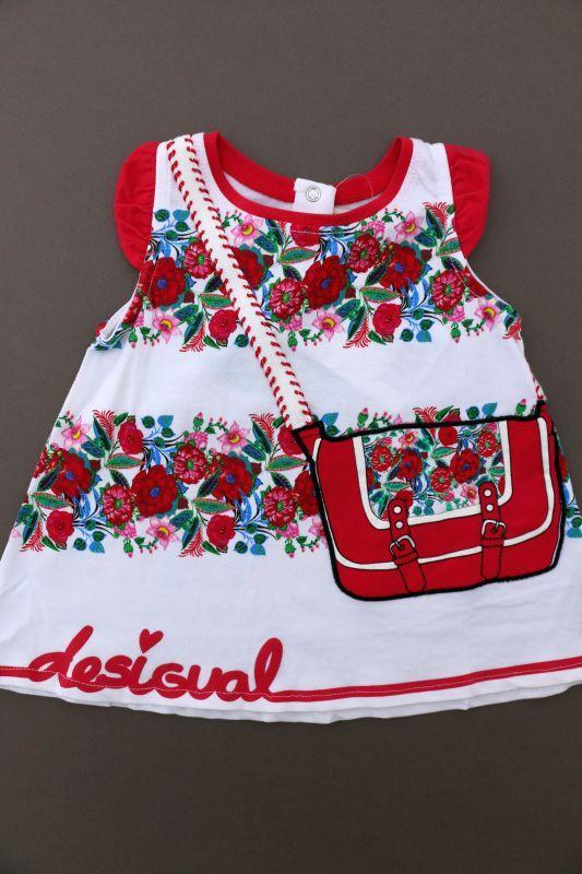 Cadeau Naissance Bebe Fille D Ete Robe Legere Ete En Jersey Imprime Floral Neuve Avec Etiquette Desigual Taille 3 Mois